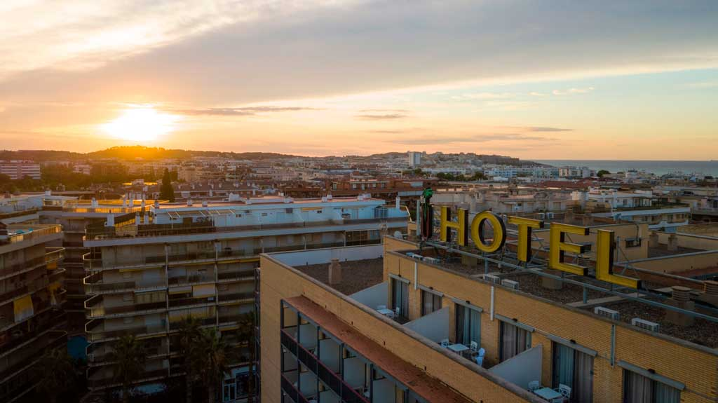 Hotel Eurosalou Aerial View